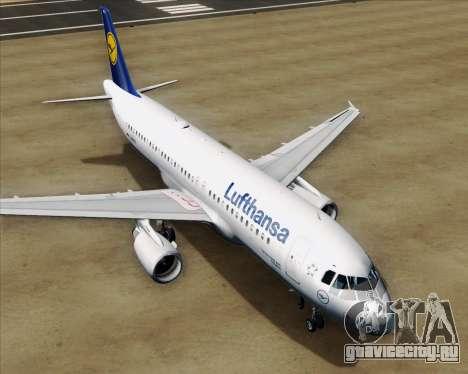 Airbus A320-211 Lufthansa для GTA San Andreas двигатель