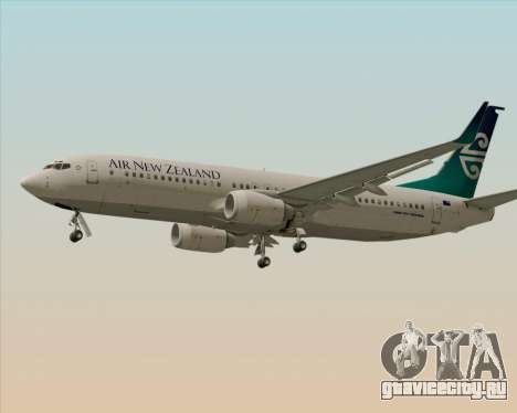Boeing 737-800 Air New Zealand для GTA San Andreas вид сзади слева