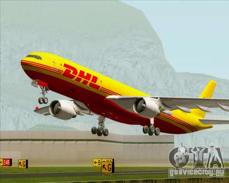 Airbus A330-300P2F DHL для GTA San Andreas двигатель
