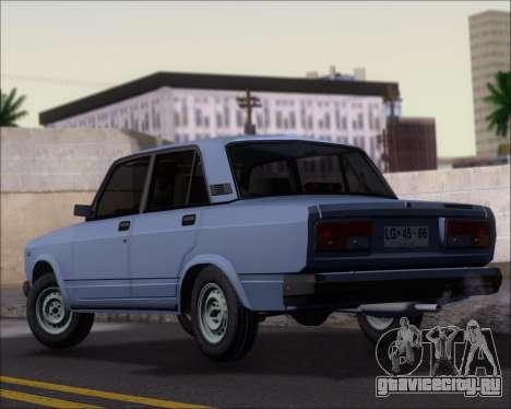 LADA 2107 для GTA San Andreas вид сзади слева