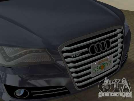 Audi A8 2010 W12 Rim6 для GTA Vice City вид снизу