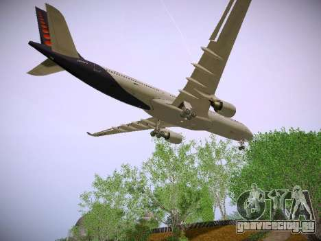 Airbus A330-300 Brussels Airlines для GTA San Andreas вид изнутри