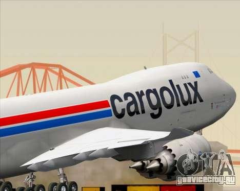 Boeing 747-8 Cargo Cargolux для GTA San Andreas вид снизу