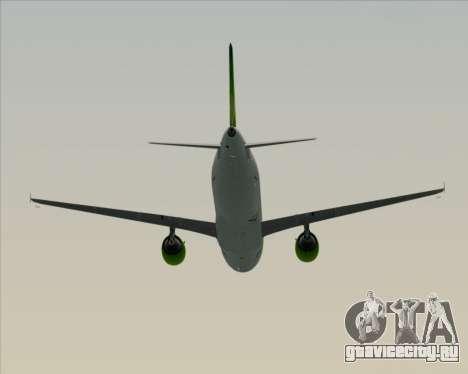 Airbus A320-200 Air Australia для GTA San Andreas вид сверху