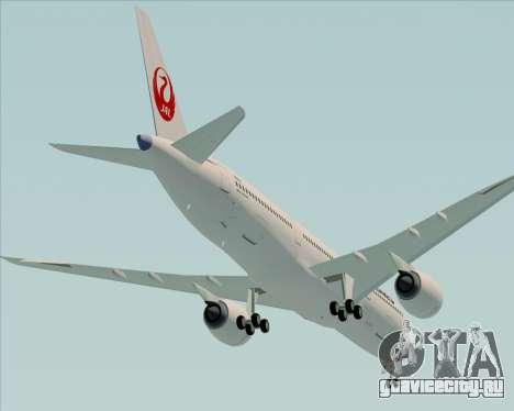 Airbus A350-941 Japan Airlines для GTA San Andreas двигатель