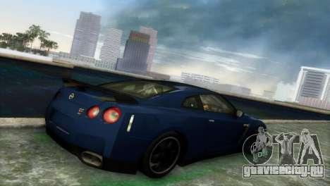 Nissan GT-R SpecV Black Revel для GTA Vice City вид сзади