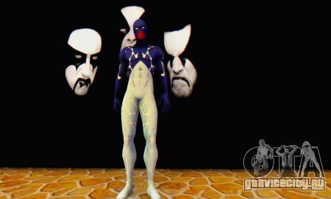 Skin The Amazing Spider Man 2 - Suit Cosmic для GTA San Andreas третий скриншот