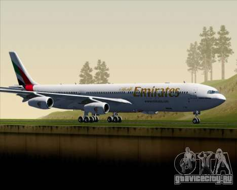 Airbus A340-313 Emirates для GTA San Andreas вид слева