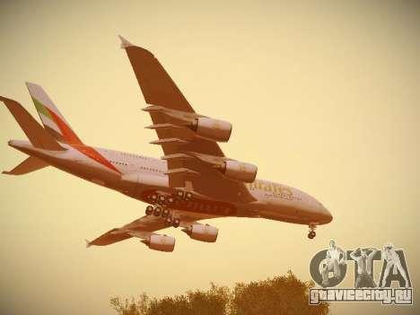 Airbus A380-800 Emirates для GTA San Andreas салон