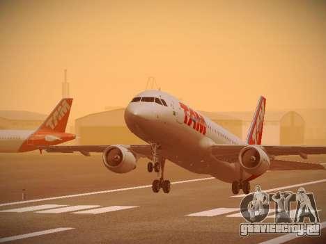 Airbus A320-214 TAM Airlines для GTA San Andreas двигатель