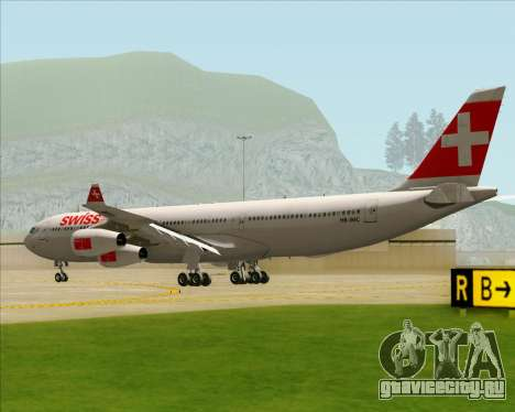 Airbus A340-313 Swiss International Airlines для GTA San Andreas вид справа