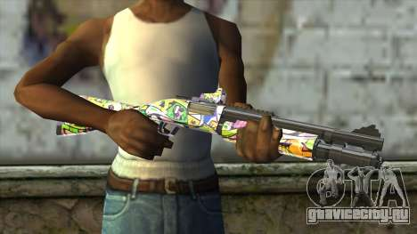 Graffiti Shotgun для GTA San Andreas третий скриншот