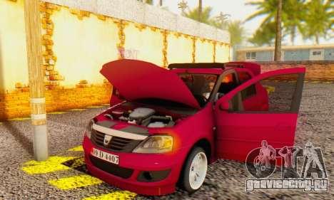 Dacia Logan 1.6 MPI Tuning для GTA San Andreas вид изнутри