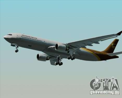 Airbus A330-300P2F UPS Airlines для GTA San Andreas вид изнутри