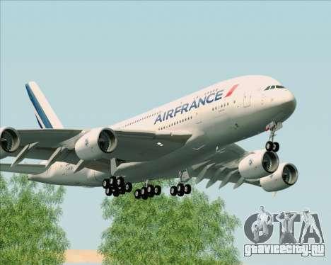 Airbus A380-861 Air France для GTA San Andreas вид слева