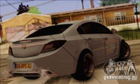 Opel Insignia OPC ATS Cup для GTA San Andreas вид слева
