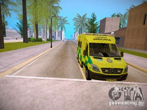 Mercedes-Benz Sprinter London Ambulance для GTA San Andreas вид сверху