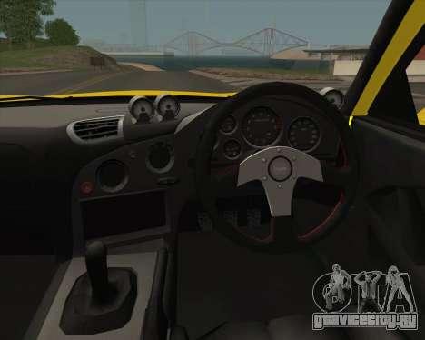 Mazda RX-7 FD3S A-Spec для GTA San Andreas вид изнутри