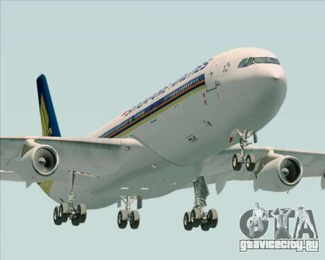Airbus A340-313 Singapore Airlines для GTA San Andreas вид изнутри