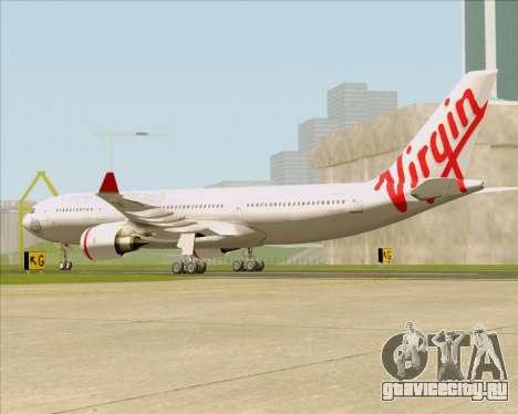 Airbus A330-200 Virgin Australia для GTA San Andreas вид сзади слева