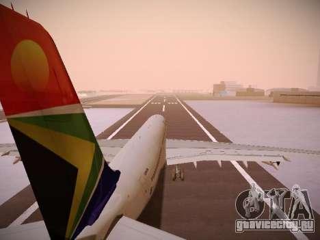 Airbus A340-300 South African Airways для GTA San Andreas колёса