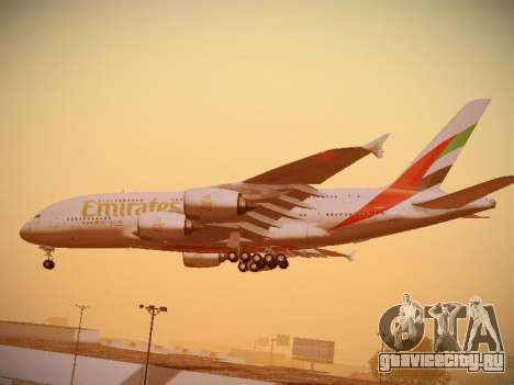 Airbus A380-800 Emirates для GTA San Andreas вид сверху