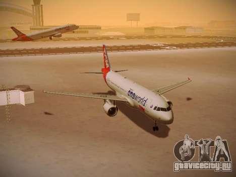 Airbus A320-214 TAM Oneworld для GTA San Andreas вид сзади