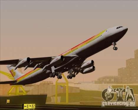 Airbus A340 -313 Iberia для GTA San Andreas вид сверху