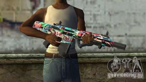 Graffiti Assault rifle v2 для GTA San Andreas третий скриншот