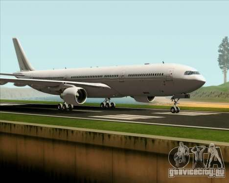 Airbus A330-300 Full White Livery для GTA San Andreas вид слева