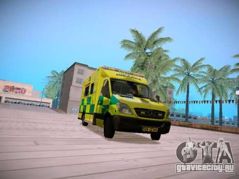 Mercedes-Benz Sprinter London Ambulance для GTA San Andreas вид слева