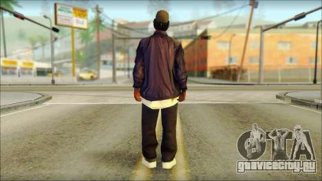 Eazy-E Blue Skin v1 для GTA San Andreas второй скриншот