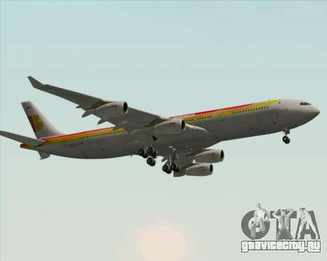 Airbus A340 -313 Iberia для GTA San Andreas вид изнутри
