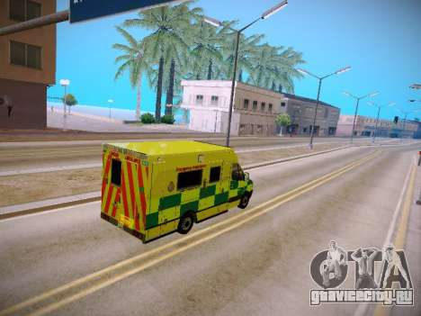 Mercedes-Benz Sprinter London Ambulance для GTA San Andreas вид изнутри