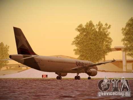 Airbus A320-214 LAN Oneworld для GTA San Andreas вид справа