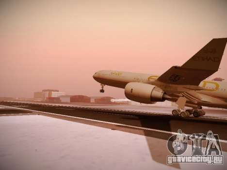 Airbus A340-600 Etihad Airways для GTA San Andreas вид сбоку