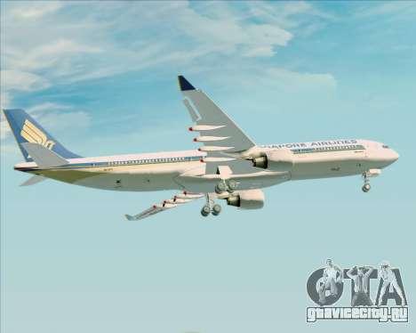 Airbus A330-300 Singapore Airlines для GTA San Andreas двигатель