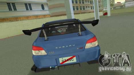 Subaru Impreza WRX STI 2006 Type 2 для GTA Vice City вид справа
