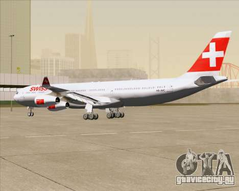 Airbus A340-313 Swiss International Airlines для GTA San Andreas вид сбоку