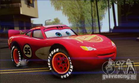 Lightning McQueen Radiator Springs для GTA San Andreas