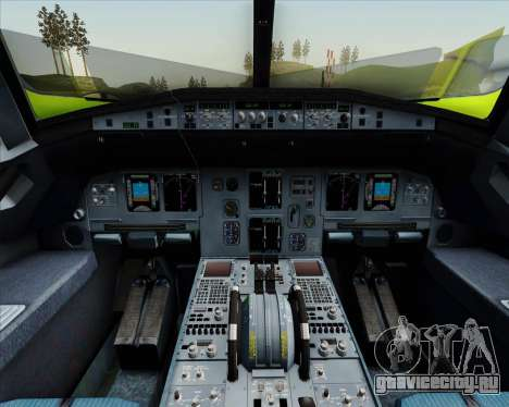 Airbus A320-214 S7-Siberia Airlines для GTA San Andreas двигатель