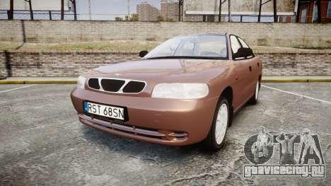 Daewoo Nubira I Sedan S PL 1997 для GTA 4