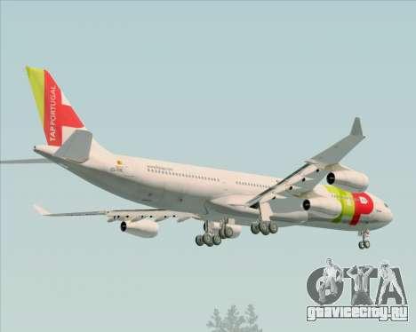 Airbus A340-312 TAP Portugal для GTA San Andreas салон