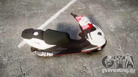 Yamaha Aerox для GTA 4 вид справа