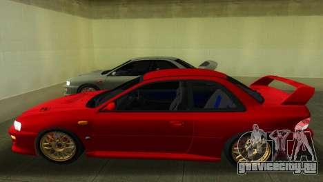 Subaru Impreza WRX STI GC8 22B для GTA Vice City вид сзади слева