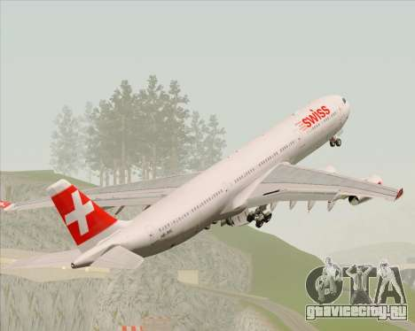 Airbus A340-313 Swiss International Airlines для GTA San Andreas двигатель