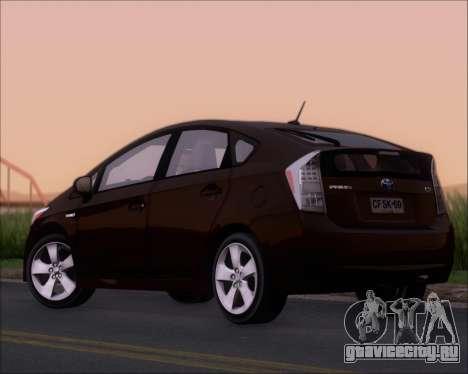 Toyota Prius для GTA San Andreas вид справа