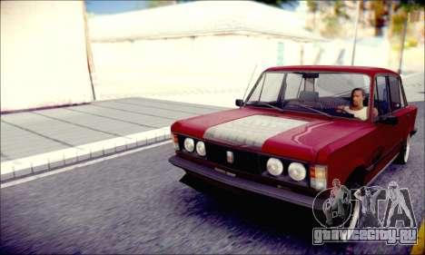 Fiat 125P Shark для GTA San Andreas вид сзади слева