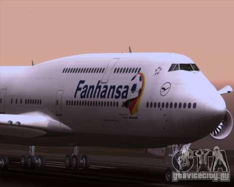 Boeing 747-830 Lufthansa - Fanhansa для GTA San Andreas вид сверху