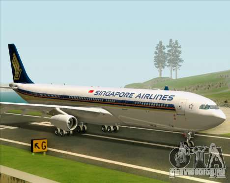 Airbus A340-313 Singapore Airlines для GTA San Andreas вид сзади слева